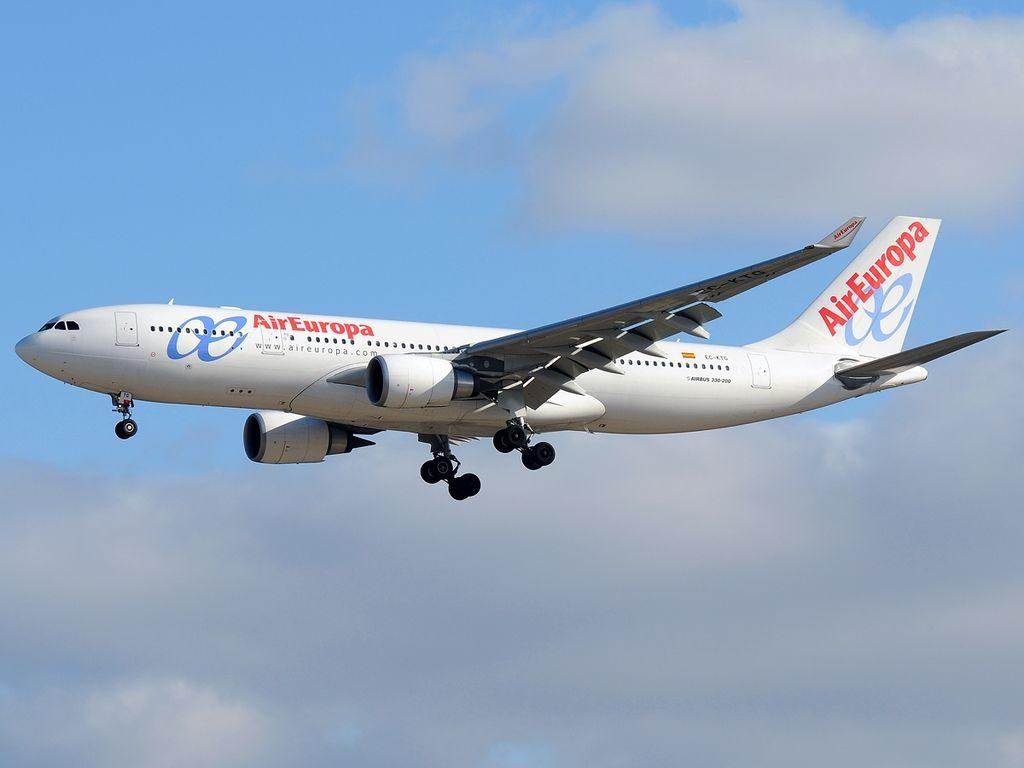 Airbus A330 202 Air Europa EC KTG at Madrid Barajas Airport