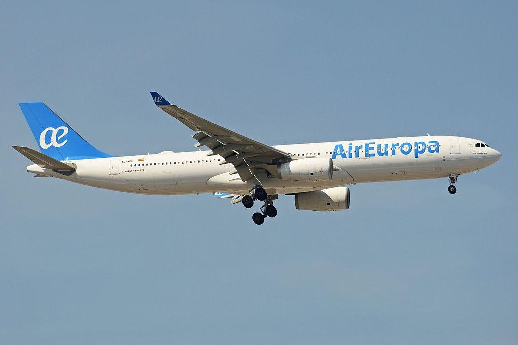 Airbus A330 343 EC MHL Air Europa at Madrid Barajas International Airport
