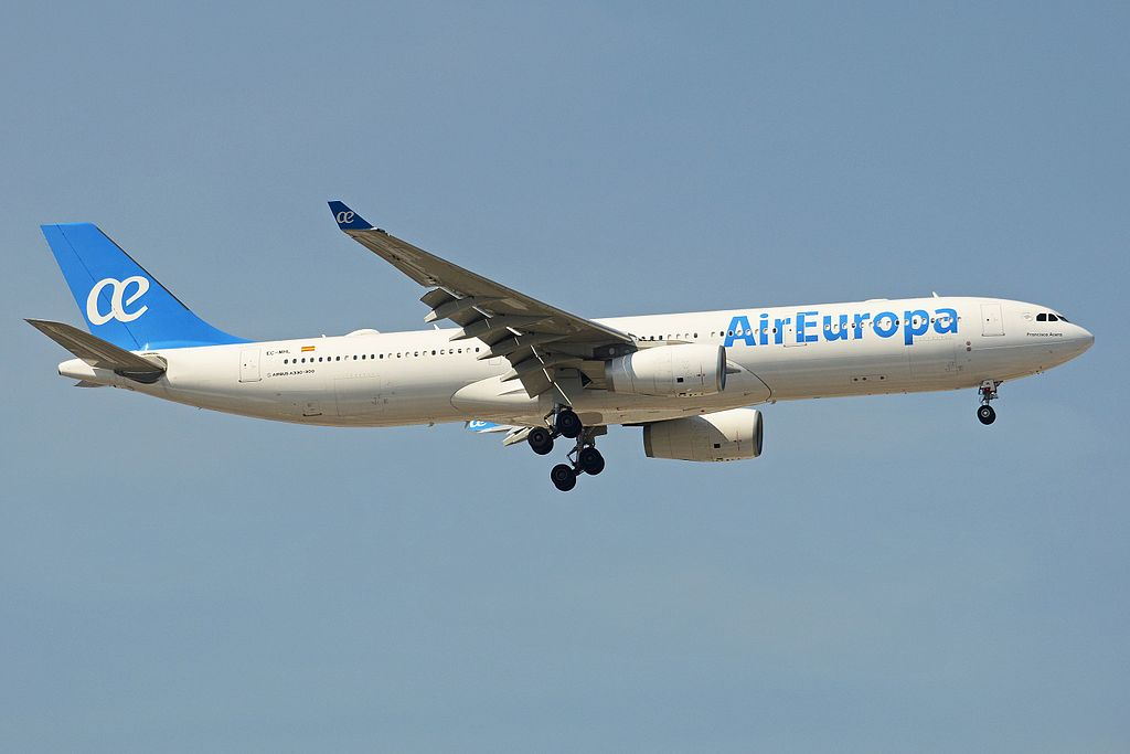 Airbus A330 343 EC MHL Air Europa at Madrid Barajas International Airport