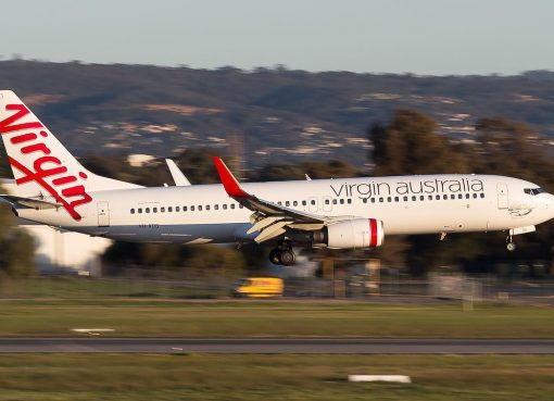Boeing 737 8FEWL Virgin Australia VH VOS Chiton Rocks at Adelaide Airport