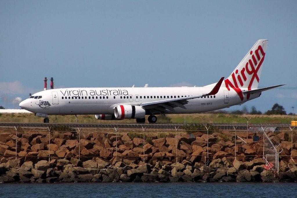 Boeing 737 8FEWL Virgin Australia VH YFT Admirals Arch at Sydney Kingsford Smith International Airport