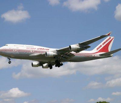 Boeing 747 437 Air India VT EVB Velha Goa at London Heathrow Airport