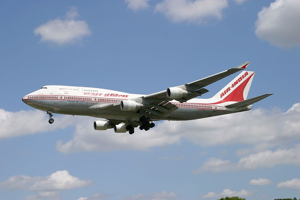 Boeing 747 437 Air India VT EVB Velha Goa at London Heathrow Airport