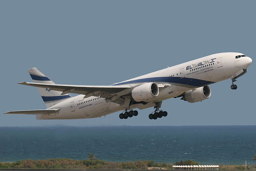 Boeing 777 258ER El Al Israel Airlines 4X ECC Holon at Barcelona Airport