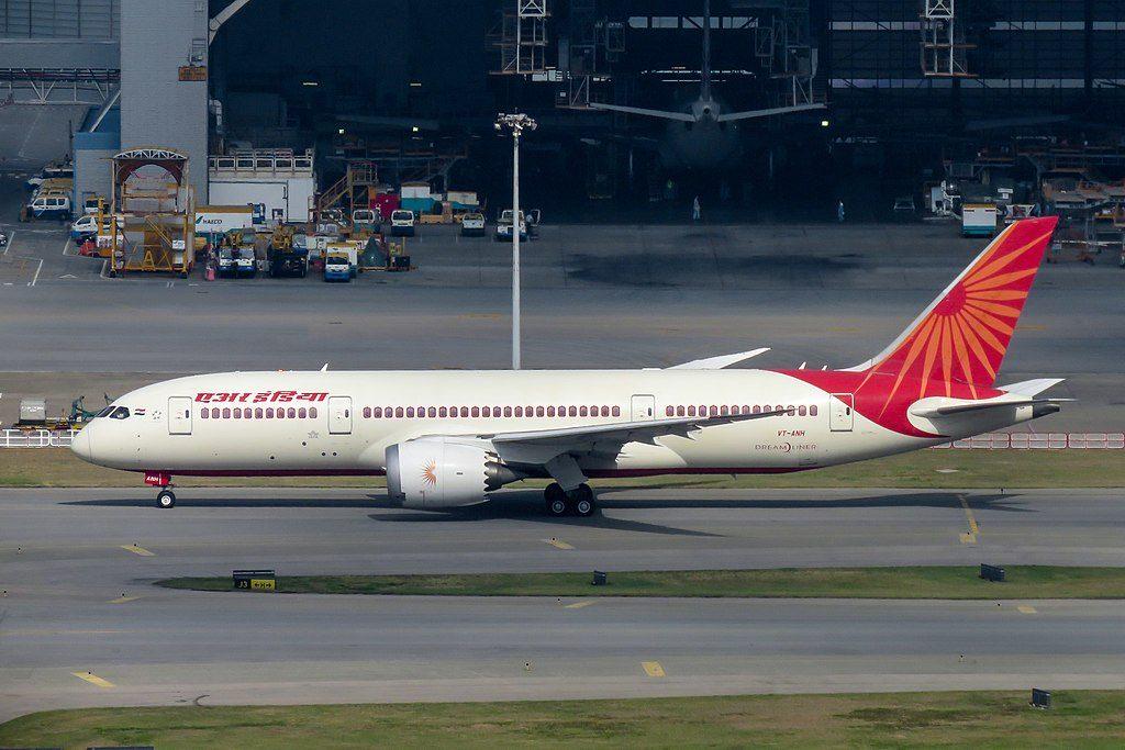 Boeing 787 8 Dreamliner Air India VT ANH at Hong Kong International Airport