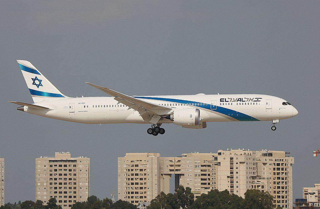 Boeing 787 9 Dreamliner EL AL 4X EDH Beer Sheva landing at Ben Gurion Airport