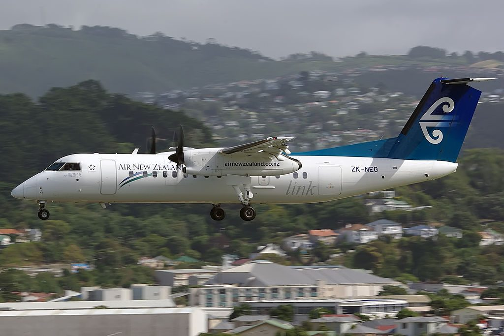 Bombardier Dash 8 Q311 Air New Zealand Link Air Nelson ZK NEG at Wellington International Airport