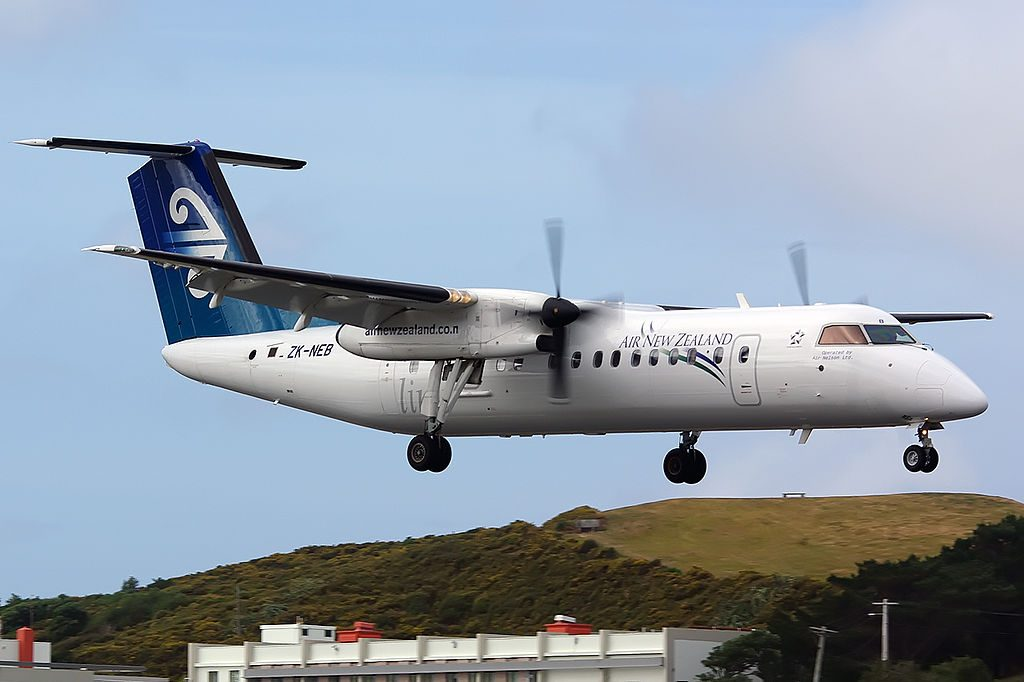 Bombardier Dash 8 Q311 ZK NEB Air New Zealand Link Air Nelson at Wellington International Airport