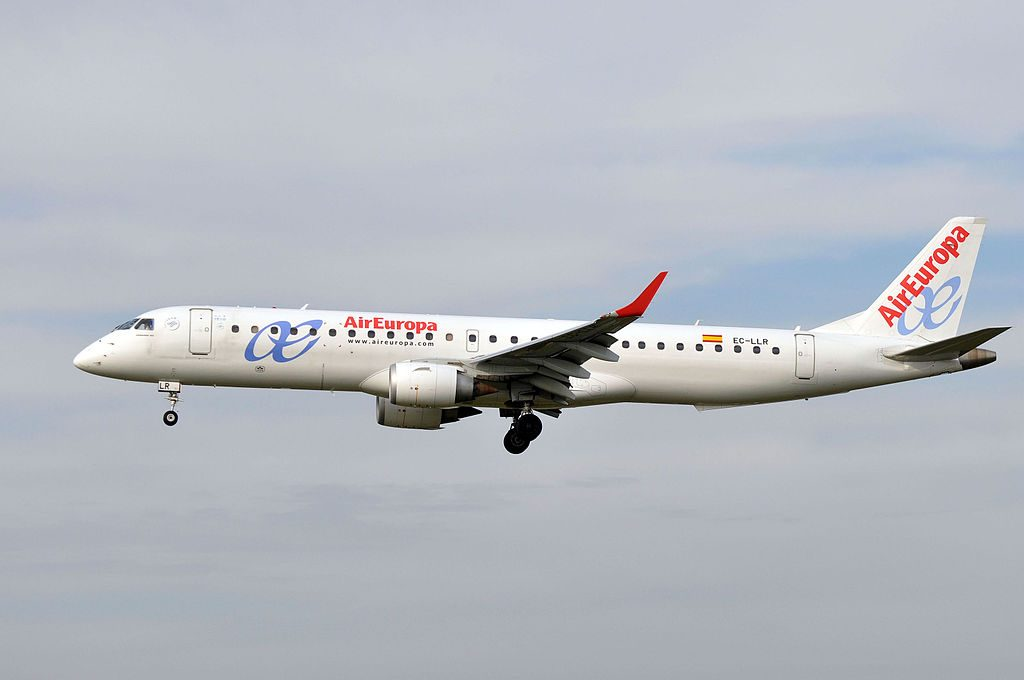 EC LLR Embraer 195 of Air Europa Express at Barcelona Airport
