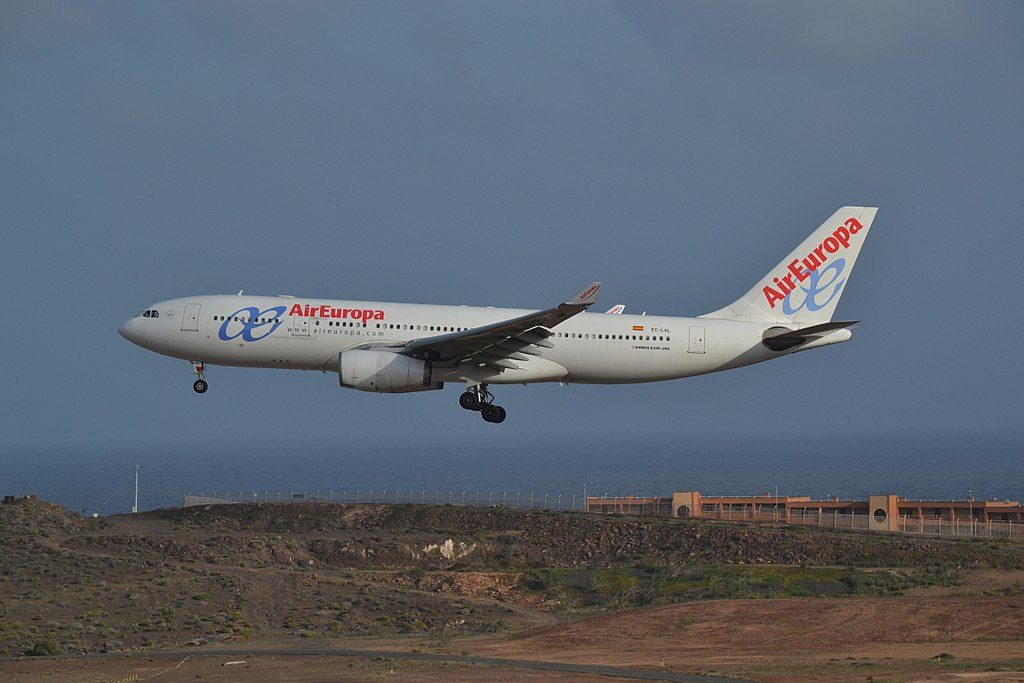 EC LVL Airbus A330 243 of Air Europa at Gran Canaria Airport