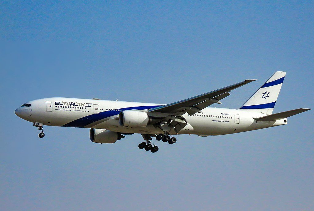 EL AL 4X ECA Boeing 777 258ER Petah Tikva at Beijing Capital International Airport