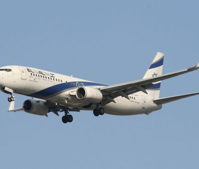 EL AL Boeing 737 8Q8WL 4X EKP Nahariya at Ben Gurion International airport