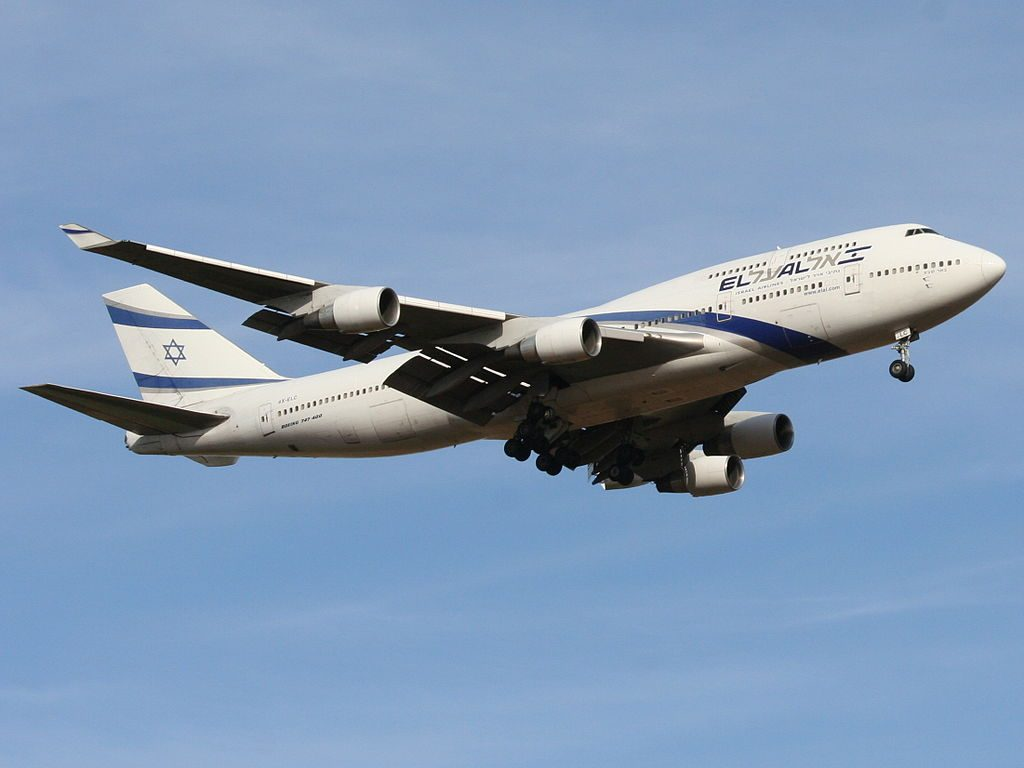 EL AL Boeing 747 458 4X ELC Beer Sheva at Ben Gurion International Airport
