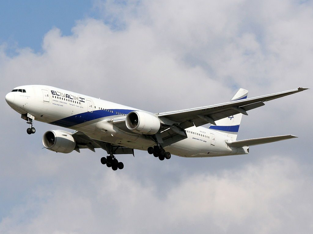 EL AL Boeing 777 258ER 4X ECF Kiryat Shmona at Ben Gurion International Airport