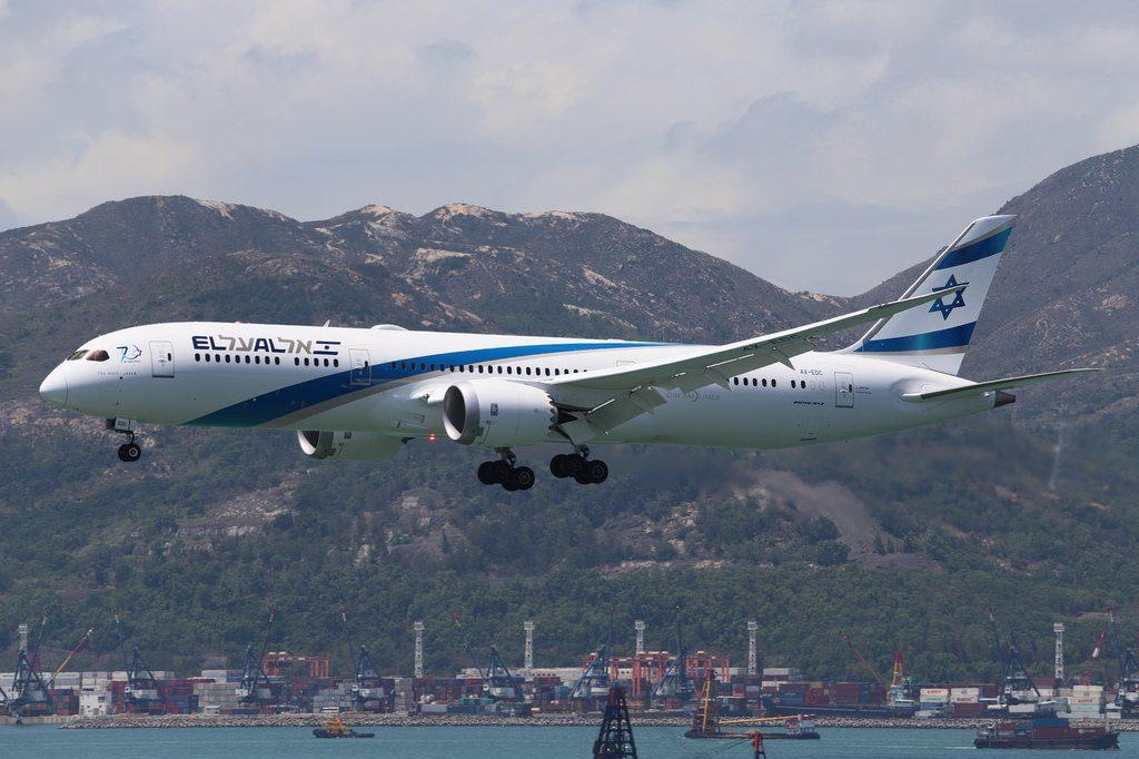 EL AL Boeing 787 9 Dreamliner 4X EDC Tel Aviv Jaffa at Hongkong International Airport