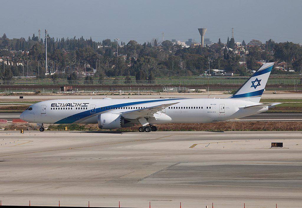 EL AL Israel Boeing 787 9 Dreamliner 4X EDI Herzliya at Ben Gurion Airport