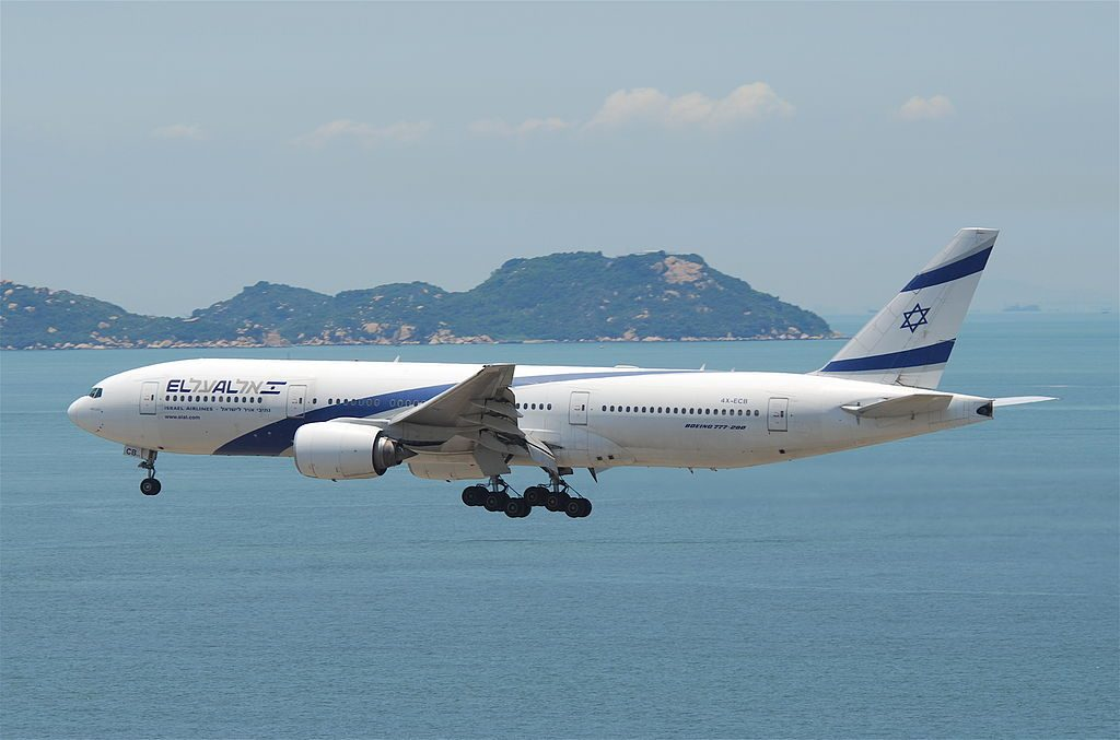 El Al Boeing 777 258ER 4X ECB Netanya at Hong Kong International Airport