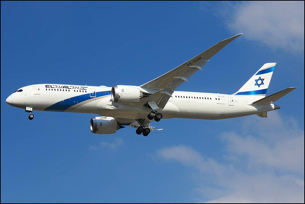 El Al Boeing 787 9 Dreamliner aircraft 4X EDB Rishon Lezion Landing at Ben Gurion Airport