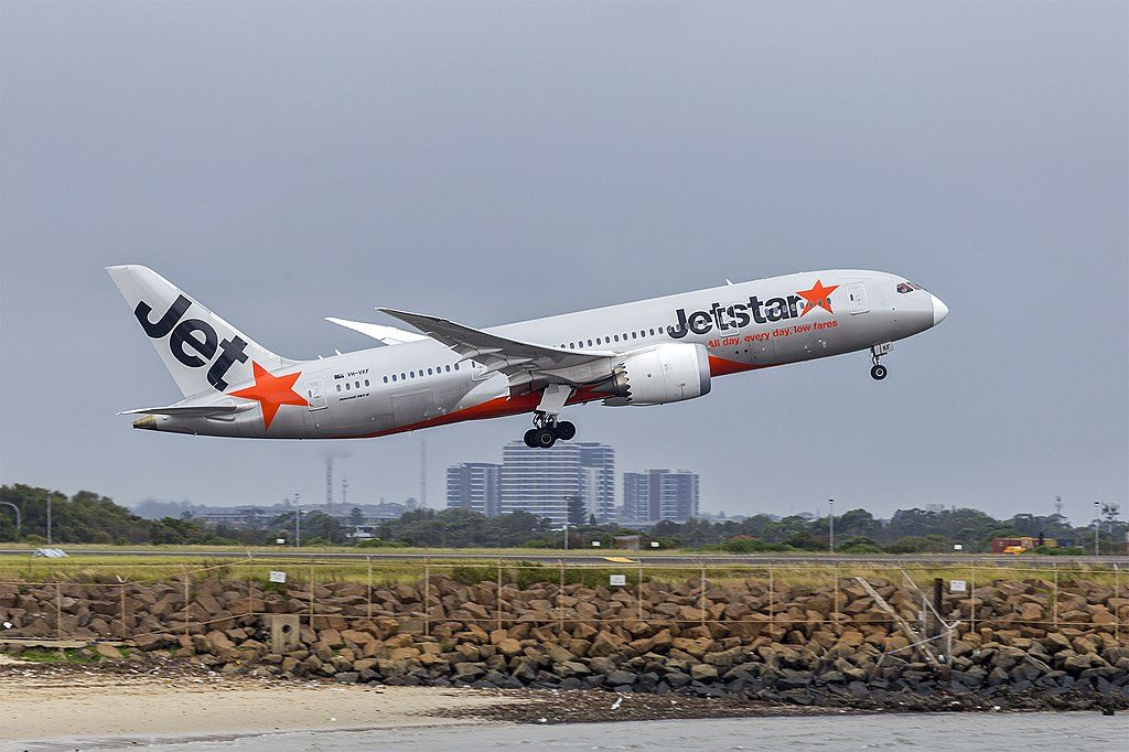 Jetstar Airways VH VKF Boeing 787 8 Dreamliner at Sydney Airport