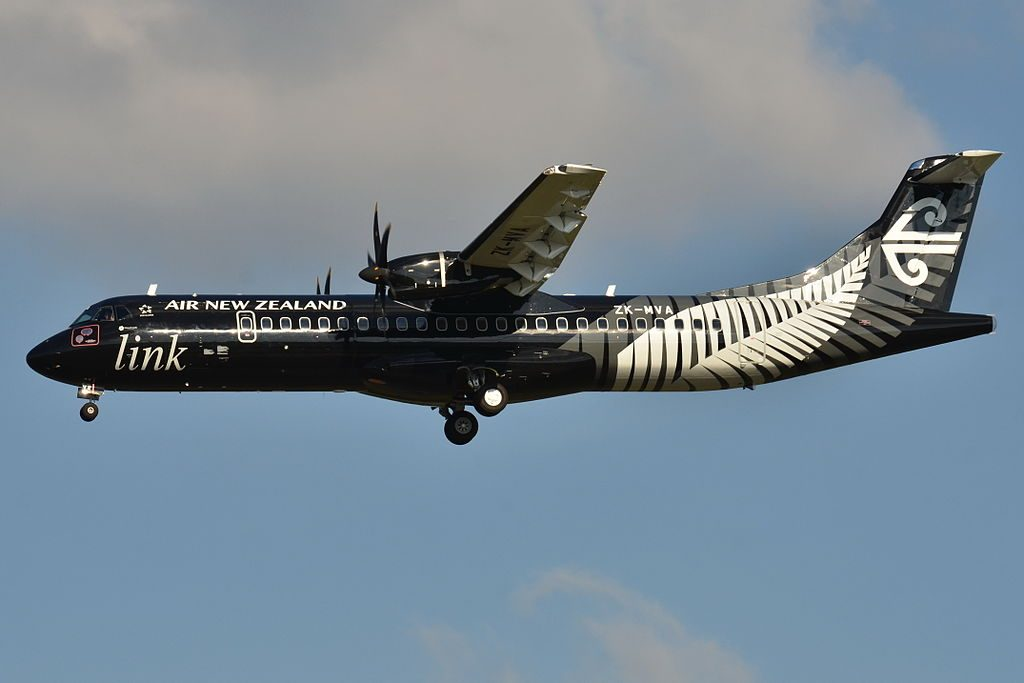 Mount Cook Airline Air New Zealand Link ATR 72 500 ZK MVA at Toulouse Blagnac International Airport