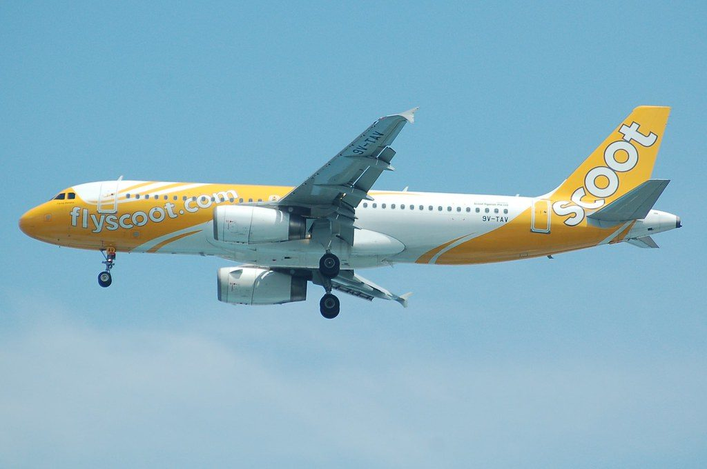 Scoot Airlines 9V TAV Airbus A320 232 Flying Banana at Soekarno Hatta International Airport