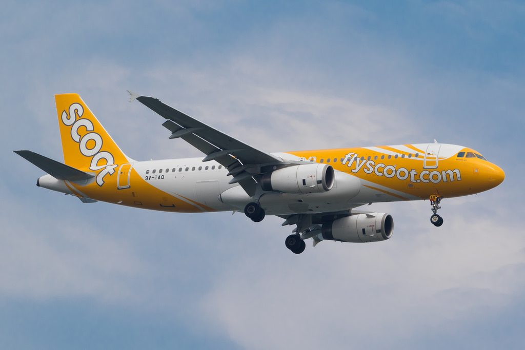 Scoot Airlines AIrbus A320 232 9V TAQ Shiok Lah at Penang International Airport