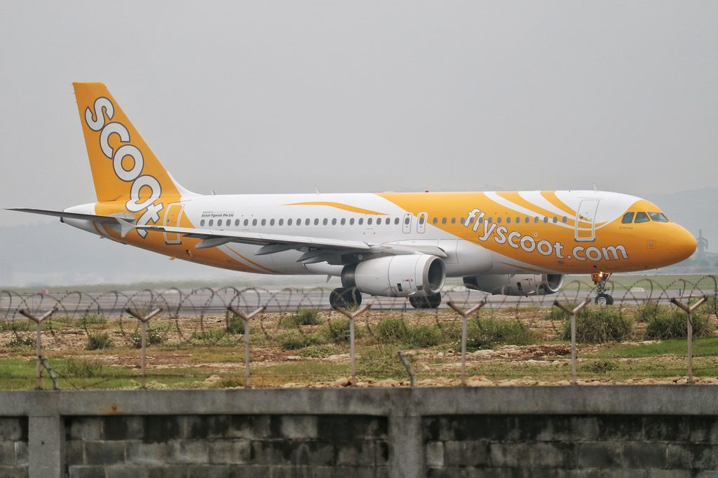 Scoot Airlines Airbus A320 200 9V TAZ Ki Jiak Hong at Taiwan Taoyuan International Airport