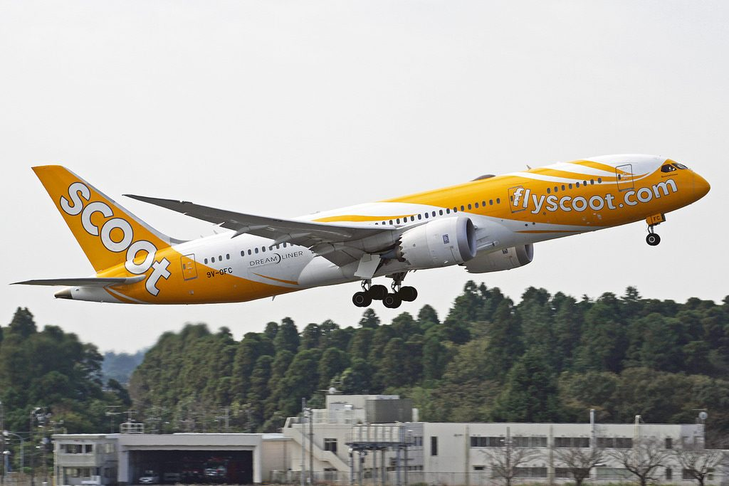 Scoot Boeing 787 8 Dreamliner 9V OFC Scootalicious at Narita International Airport