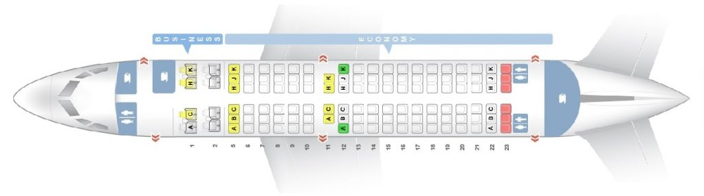 Seat Map and Seating Chart ANA Boeing 737 700