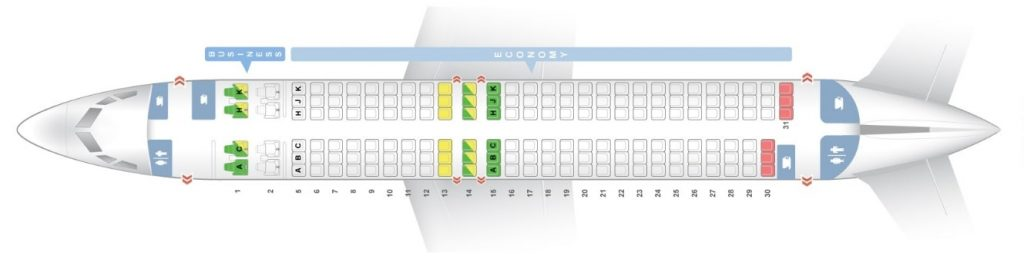Seat Map and Seating Chart ANA Boeing 737 800 Version 1