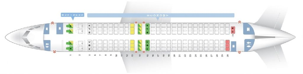 Seat Map and Seating Chart ANA Boeing 737 800 Version 2