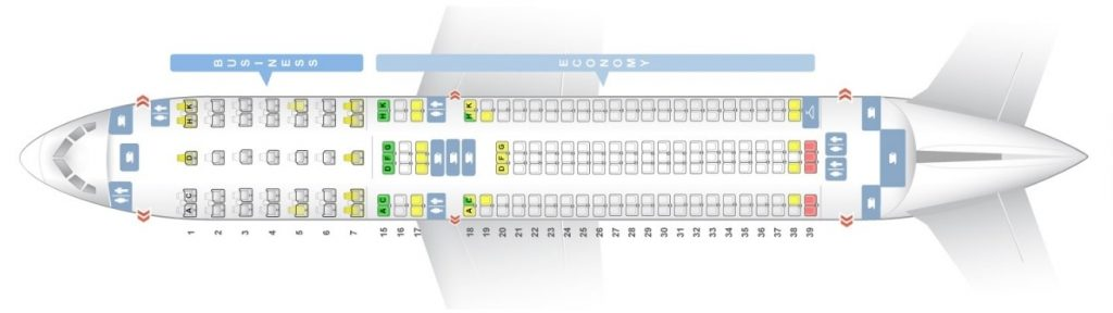 Seat Map and Seating Chart ANA Boeing 767 300ER Layout 202 Seats