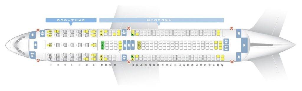 Seat Map and Seating Chart ANA Boeing 767 300ER Layout 214 Seats
