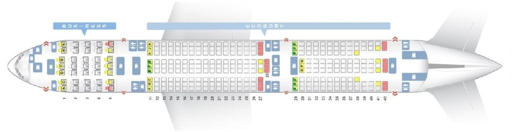 Seat Map and Seating Chart ANA Boeing 777 200ER Two Class Layout