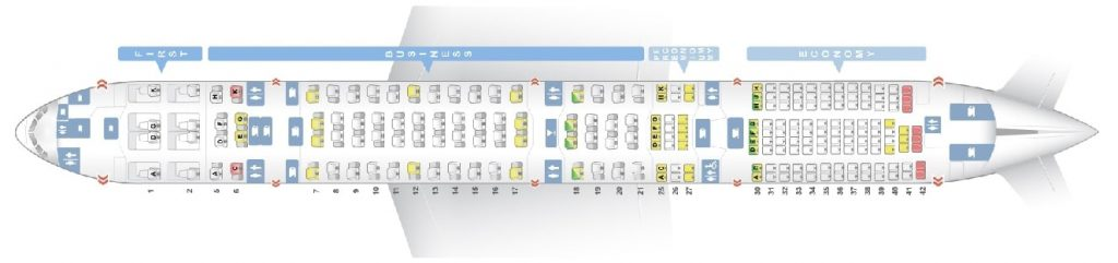 Seat Map and Seating Chart ANA Boeing 777 300ER Layout 212 Seats