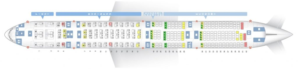 Seat Map and Seating Chart ANA Boeing 777 300ER Layout 250 Seats