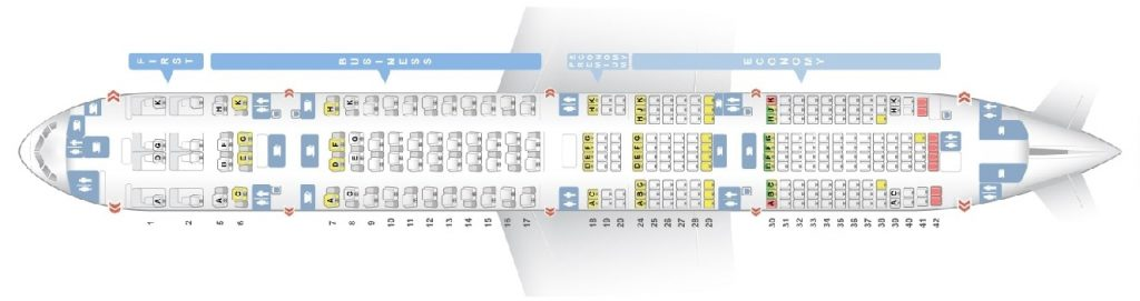 Seat Map and Seating Chart ANA Boeing 777 300ER Layout 264 Seats