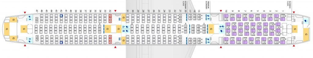 Seat Map and Seating Chart ANA Boeing 787 10 Dreamliner