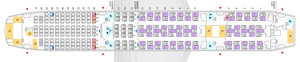 Seat Map and Seating Chart ANA Boeing 787 8 Dreamliner 169 Seats