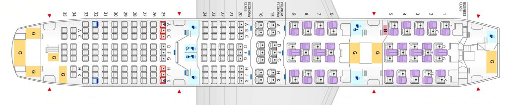 Seat Map and Seating Chart ANA Boeing 787 8 Dreamliner 184 Seats