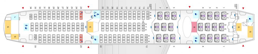 Seat Map and Seating Chart ANA Boeing 787 8 Dreamliner 240 Seats