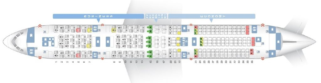 Seat Map and Seating Chart ANA Boeing 787 9 Dreamliner Layout 215 Seats