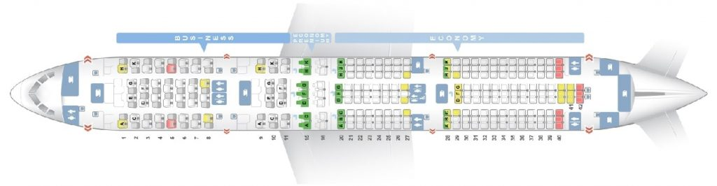 Seat Map and Seating Chart ANA Boeing 787 9 Dreamliner Layout 246 Seats