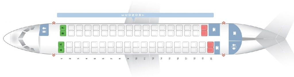 Seat Map and Seating Chart ATR 72 Iberia Regional Air Nostrum