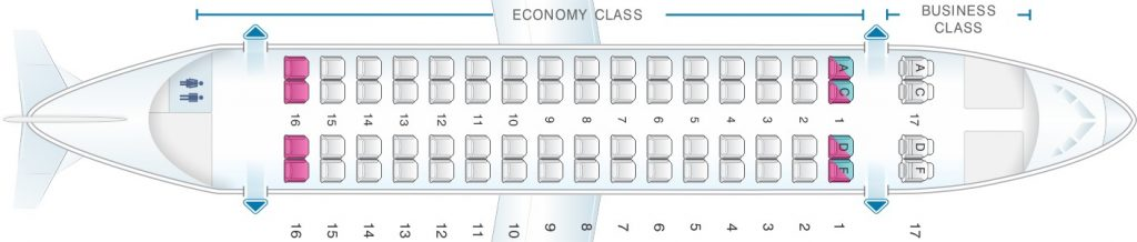 Seat Map and Seating Chart ATR 72 V1 Air Europa