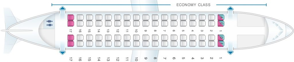 Seat Map and Seating Chart ATR 72 V2 Air Europa