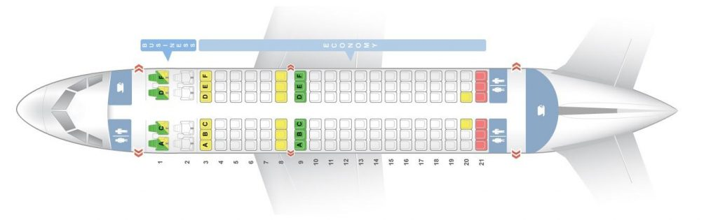 Seat Map and Seating Chart Airbus A319 100 Layout 1 Air India