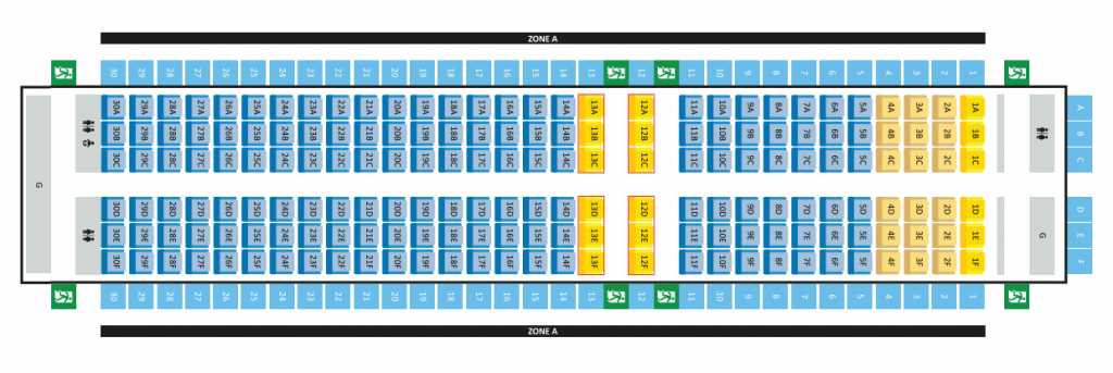 Seat Map and Seating Chart Airbus A320 200 Scoot Airlines