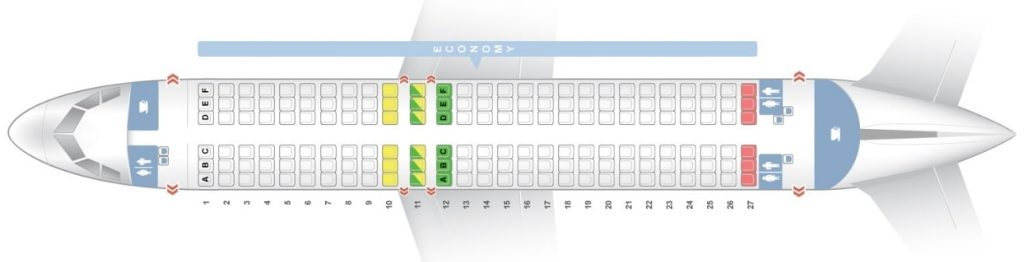 Seat Map and Seating Chart Airbus A320 200 Virgin Australia Regional