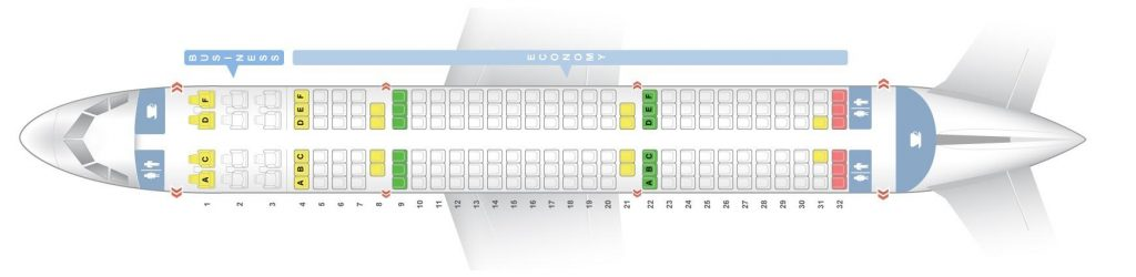 Seat Map and Seating Chart Airbus A321 200 Air India